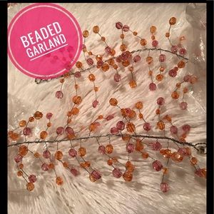 New Beaded Garland Pink + Orange - Great  For Kids
